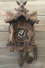 Vintage Cuckoo Clock Germany Deer Rabbit Bird