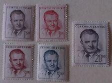 Czechoslovakia Stamp 363-6 + 364a  MNH Cat $3.20