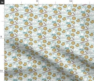 Milk Cookies Sweets Holidays Candy Desserts Food Spoonflower Fabric by the Yard