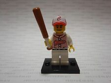 Lego 8803 Minifigure Series #3 Baseball Player Boy Bat Sports Clutchers Minifig