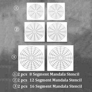 6Pcs/set Mandala Dotting Tools to Painting Rocks Pen Dotting Brush Paint Stencil
