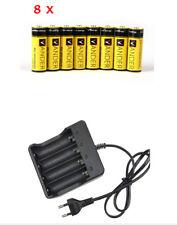 Neue 8x 6000mAh 3.7V 18650 Akku Wiederaufladbare li-ion Batteries + Ladegerät