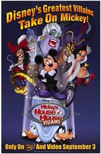 MICKEY'S HOUSE OF VILLAINS Movie POSTER 27x40 Wayne Allwine Russi Taylor Tony