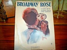 Broadway Rose Antique Sheet Music Vocal Piano Love Song Vintage 1920 Fred Fisher