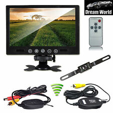 """9"""" Car/Truck/Van Rear View  Monitor+ Wireless Car Backup Night Vision Camera kit"""