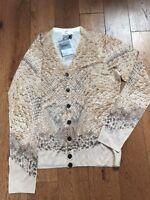 Alexander Mcqueen Cardigan Jumper Wool And Silk Size M Snake Print