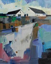 JOSE TRUJILLO Impressionism OIL PAINTING LANDSCAPE FARM HOUSES CONTEMPORARY ART