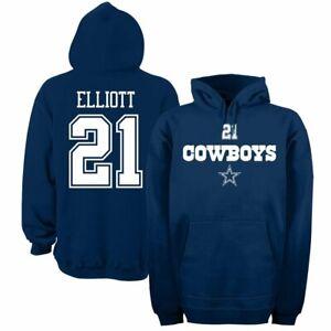 Ezekiel Elliott Dallas Cowboys Navy Walnut Pullover Sweatshirt
