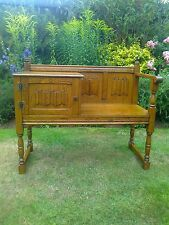 Fab Old Charm Oak Bench/Settle/Window/Hall Seat with Cupboard