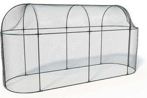 Haxnicks Long Steel Fruit Cage - 3m wide, Easy Access with 15mm Mesh Netting