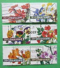 Nederland NVPH 2164 - 2169 Zomerzegels bloemen 2003 paartjes gelopen gestempeld