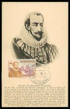 Ecuador MK 1951 Cervantes Don Quijote Chisciotte cavallo MAXIMUM CARD MC cm be29