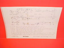 1961 CHRYSLER NEWPORT CONVERTIBLE WINDSOR SEDAN HARDTOP FRAME DIMENSION CHART