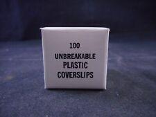 Laboratory Plastic Unbreakable Microscope Cover Slips 22 x 22mm 100/PACK