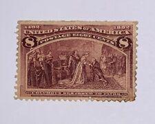 Travelstamps:1893 US Stamps Scott # 236 Restored to Favor 8 cents mint og hinged
