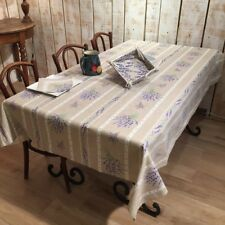 ACRYLIC COATED COTTON RECTANGLE 60x120 + 12 NAPKINS FRENCH PROVENCE TABLECLOTH