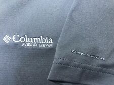Mens Columbia Field Gear Omni-Wick Fishing Hiking S/S T-Shirt Medium M Gray