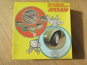 VINTAGE 70's MICHELIN  50TH ANNIVERSARY 2 SIDED JIGSAW - SEALED - 1977