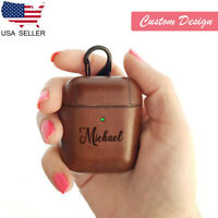 AirPod Case Leather Protective Cover Customized Gift for Apple AirPods 2 1