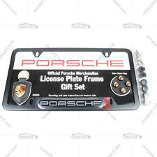 Genuine Porsche License Frame Set w/ Key Chain & Colored Valve Set PNA70400845