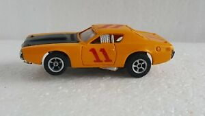 VINTAGE AURORA AFX DODGE CHARGER ORANGE #11 SLOT CAR TESTED WORKS