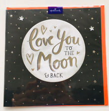 'Love You To The Moon And Back' Card, Sequins Black Card, Brand New