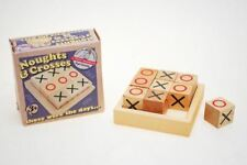 Traditional Retro Wooden Noughts & Crosses Tic Tac Toe Blocks Box Games Toy Gift