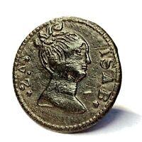 Spanish Civil War era Queen Isabella II button from Pensacola FL - CONSERVED