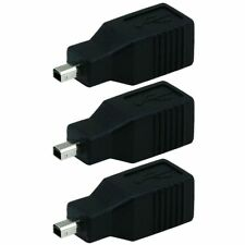 3 x USB 2.0 Type B Female to USB Mini B 4 pin Male Adapter Converter Camera