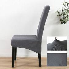 Обеденный стул крышки моющиеся вязаный стрейч съемный стул чехлов высокая спинка M
