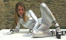 Metallic Silver Lycra spandex zentai costume suit S/M/L/XL/XXL,The lowest price