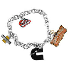 Cummins emblem womens charm bracelet badge logo arm jewelry new oil dodge ram