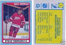 1990-91 O-PEE-CHEE Steve Yzerman MINT Box Bottom Card OPC