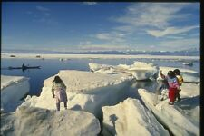 155068 Arctic Kayaking And Ice Pond Inlet NWT A4 Photo Print