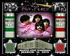 PINK FLOYD 8x10 SIGNED RP PHOTO MAR 11, 1973 W/MAPLE LEAF GARDENS RED-GREEN SEAT