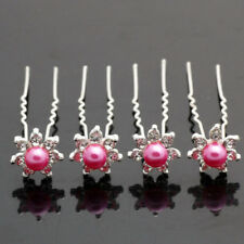 6 Crochets Epingles pics accessoires cheveux perle rose mariage