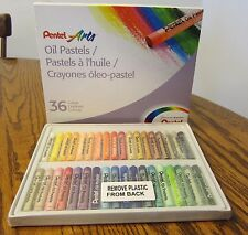 1 Pack Of Pentel Arts Oil Pastels Package For Paper Board Or Canvas 36 Colors