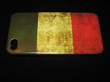 Italy Cover Case for iPhone 4 4s Italy Flag Vintage Look on Black Case