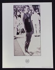 OLYMPIC  POSTER - JOHNNY WEISSMULLER - SWIMMING