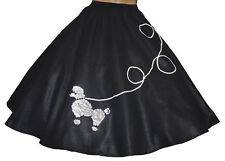 "Black FELT Poodle Skirt _ Adult Size Plus 1X- 3X  _ Waist 40""-50"" _ Length 25"""