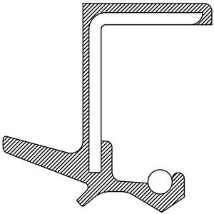 Transfer Case Output Shaft Seal Front National 710772