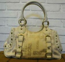 Just Cavalli Cream & Gold Glitter Font Handbag