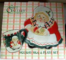 New Holiday Mug & Plate Set Fitz & Floyd Gift Gallery Christmas L2
