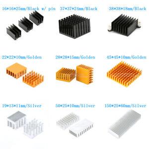 1~5Pcs 8.8mm-200mm Aluminum Heatsink Heat Sink Thermal Cooling Fin Blade CPU IC