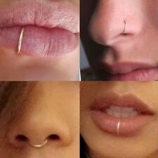Fake Sterling 20g SEPTUM Nose Ring Lip Ring Cartilage Tragus Helix Ring Piercing