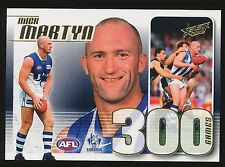 2012 Select Mick Martyn 300 Game Case card North Melbourne Kangaroos