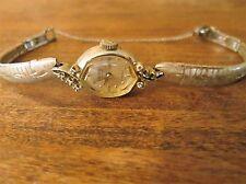 Vintage Gruen Ladies 10K White Gold Kreisler 14 jewel precision cocktail watch
