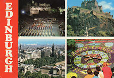 Postcard   Scotland   Edinburgh multiview  posted