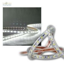 ( 8,40€/m ) 20 m LED Tira Flexible BLANCO LUZ FRÍA 230v regulable IP44 Banda De