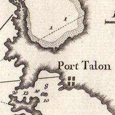 Carte Géographique XVIIIe Nauplie Grèce Péloponèse Ναύπλιο Nafplio Nauplion 1764